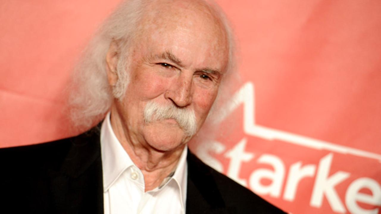 David Crosby arrives at the 2015 MusiCares Person of the Year event at the Los Angeles Convention Center on Friday, Feb. 6, 2015 in Los Angeles.