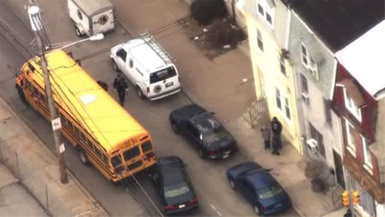 School bus and car collide in East Mount Airy