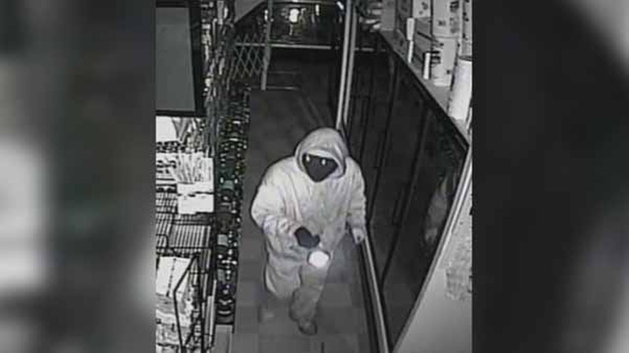 Police are searching for a burglar who targeted a mini market in Southwest Philadelphia.