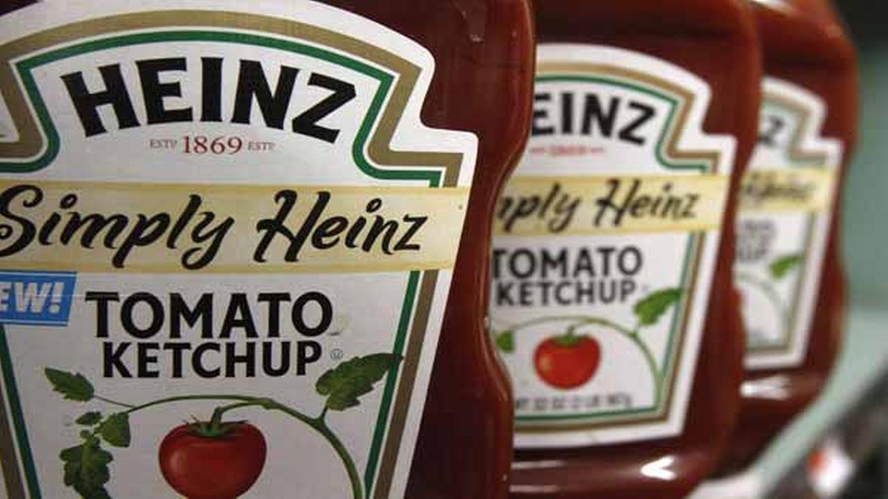 FILE - This Wednesday, March 2, 2011, file photo, shows containers of Heinz ketchup on the shelf of a market, in Barre, Vt.