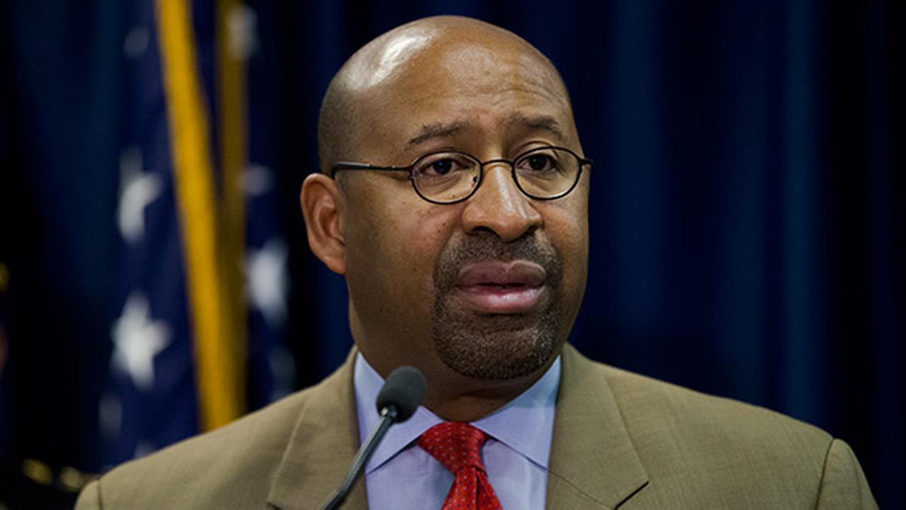 Mayor Michael Nutter speaks during a news conference Monday, March 23, 2015, in Philadelphia.
