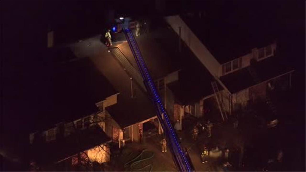 3 townhomes damaged in Evesham Twp. fire