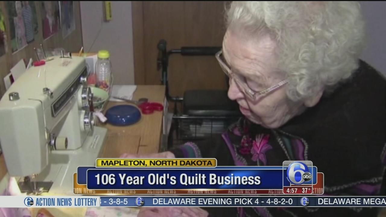 VIDEO: 106-year-old entrepreneurs quilting business