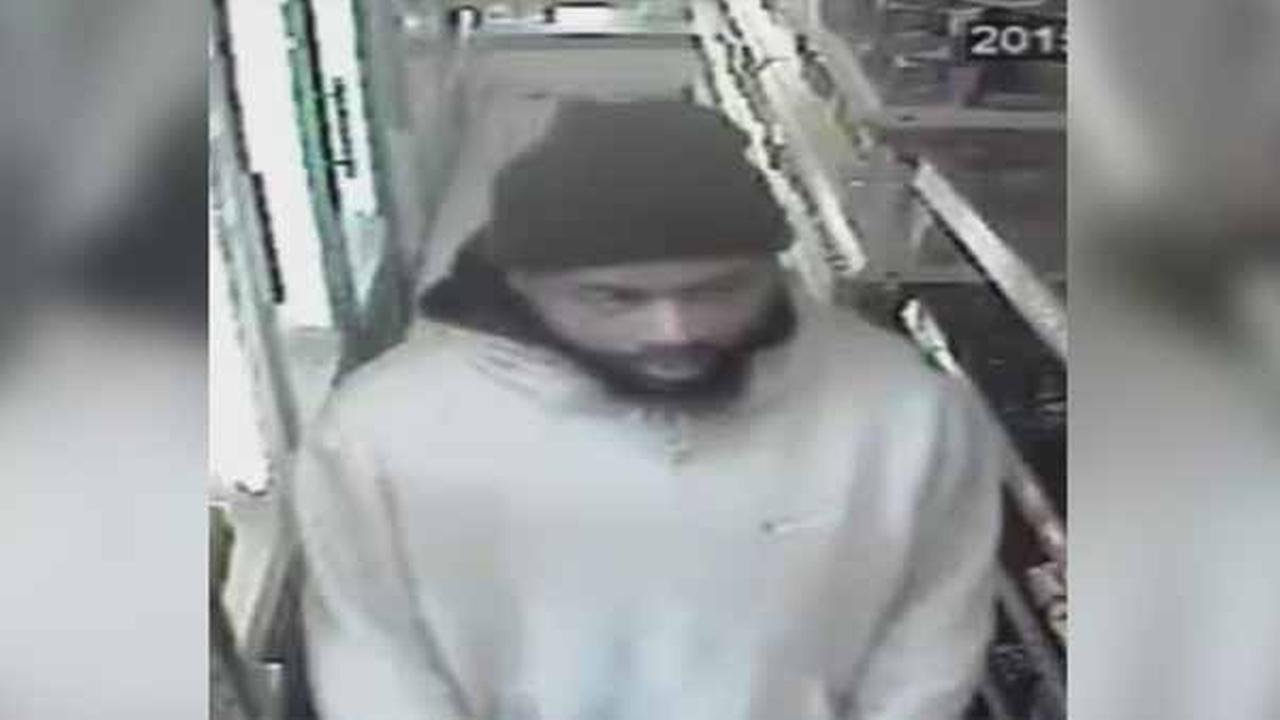 Police are on the hunt for a suspect wanted in connection with two robberies in North Philadelphia Monday morning.