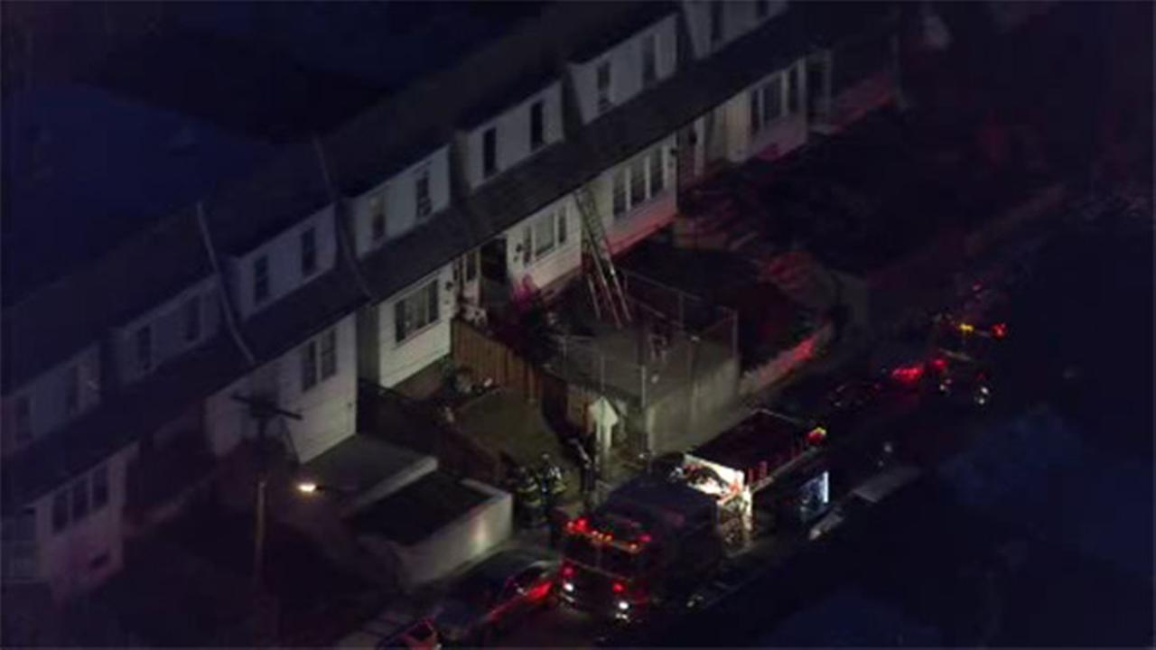 Fire forces residents from Upper Darby home