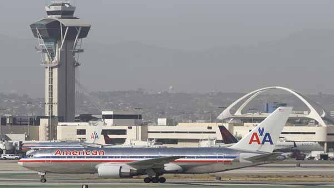 An American Airlines Boeing 767 awaits to take off at the Los Angeles International airport in Los Angeles on Wednesday, April, April 30, 2014.