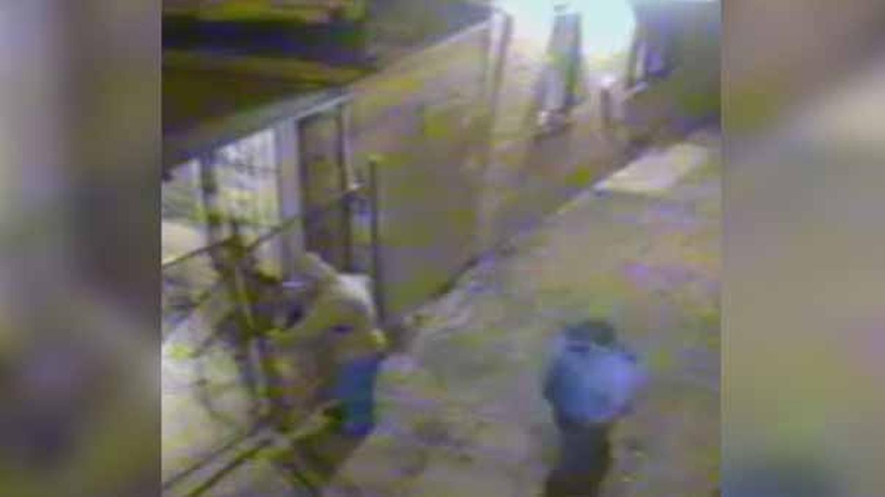 Police are looking to identify three thieves who stole a pair of dirt bikes from the backyard of a home in the Franklinville section of North Philadelphia.