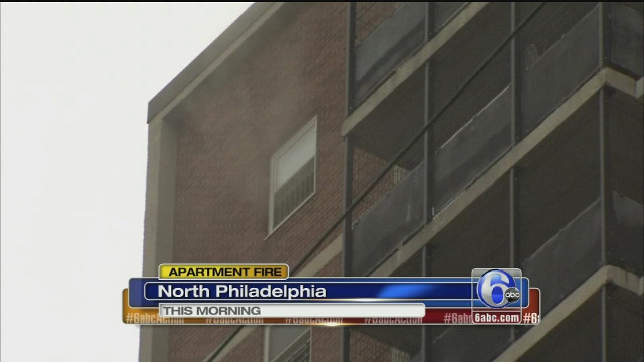 VIDEO: North Philadelphia apartment fire