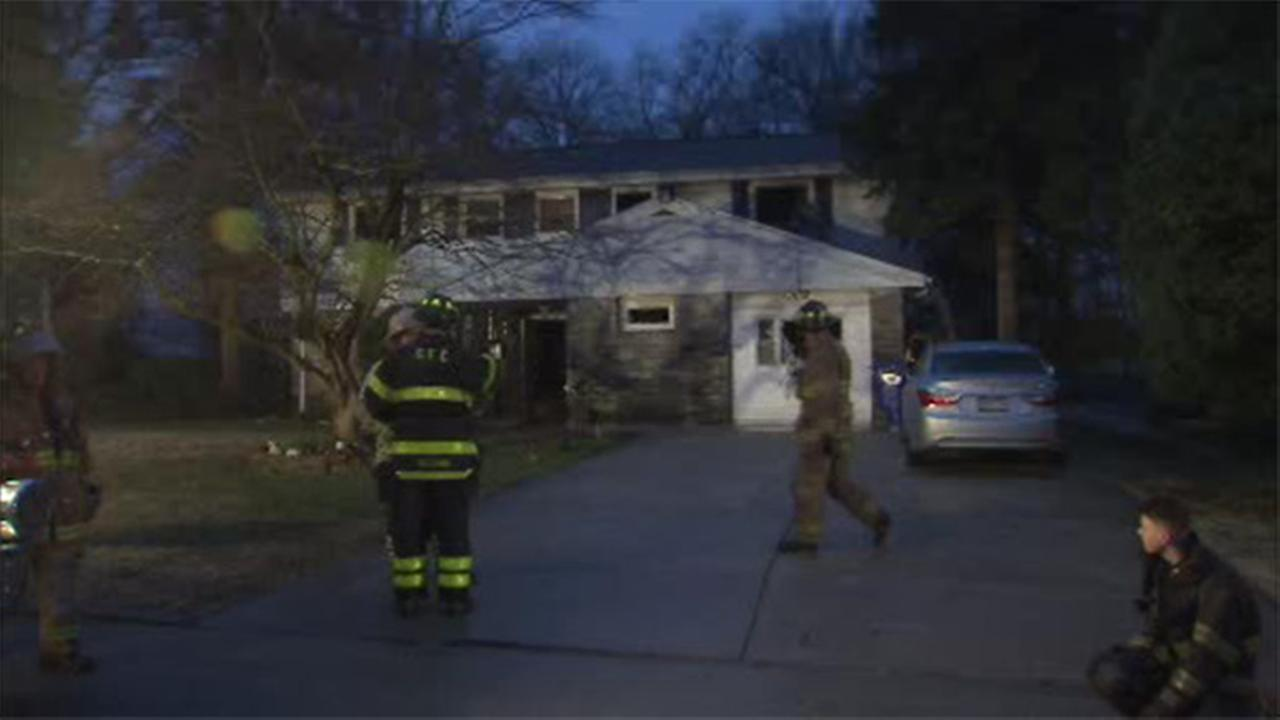 Flames damage house in Cheltenham, Pa.