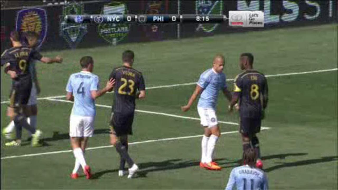 Union scores in stoppage time to beat NYC FC 2-1