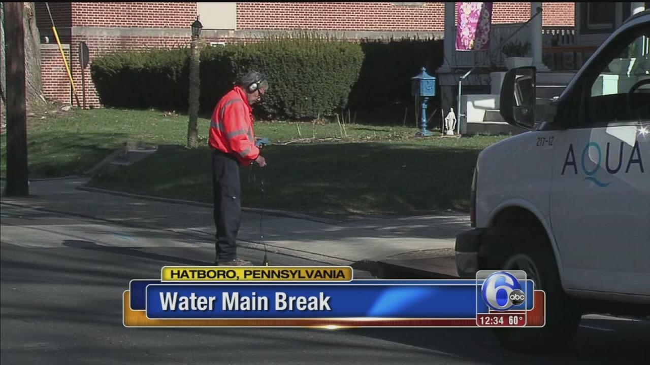 VIDEO: Water main break in Montgomery County