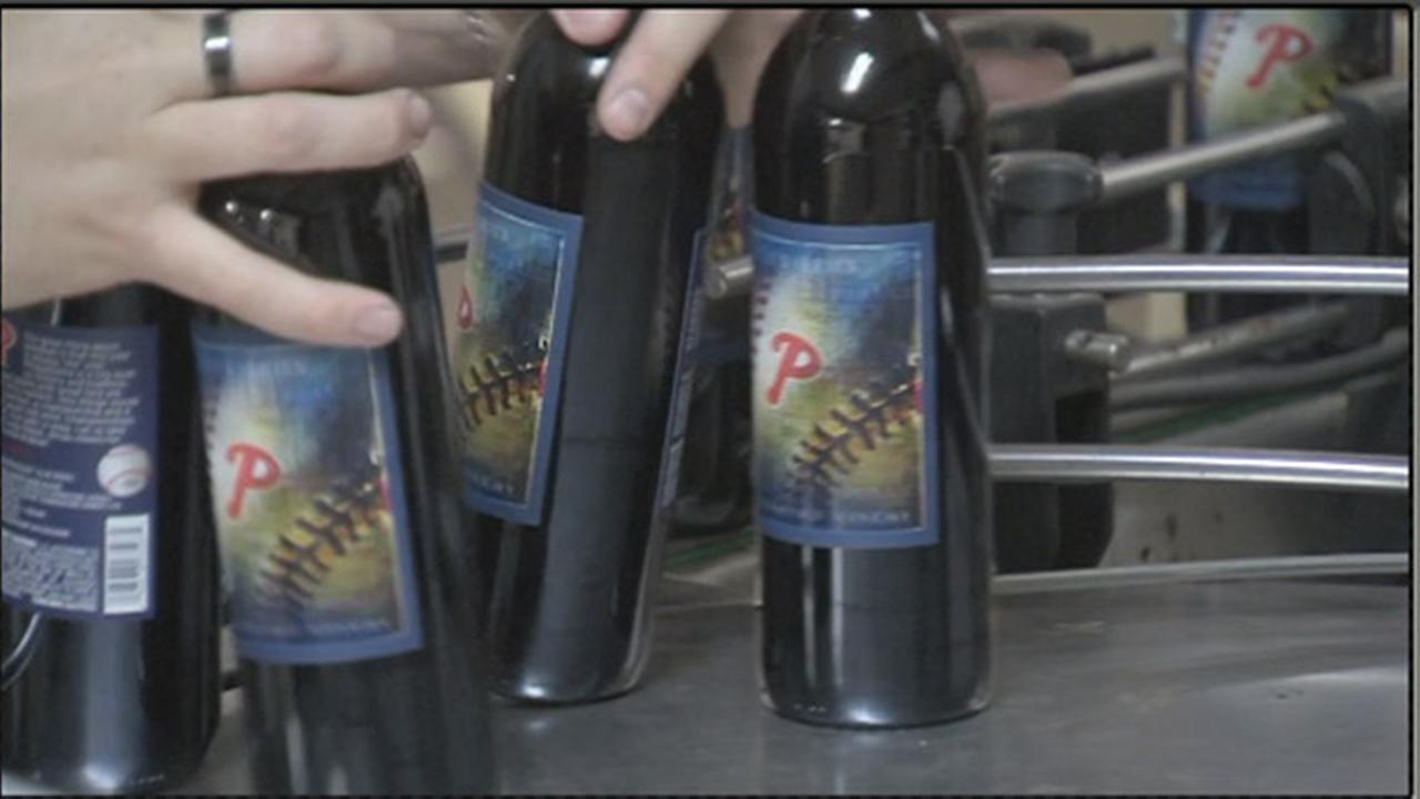 """Delaware County winery unveils """"Phillies Wine"""""""