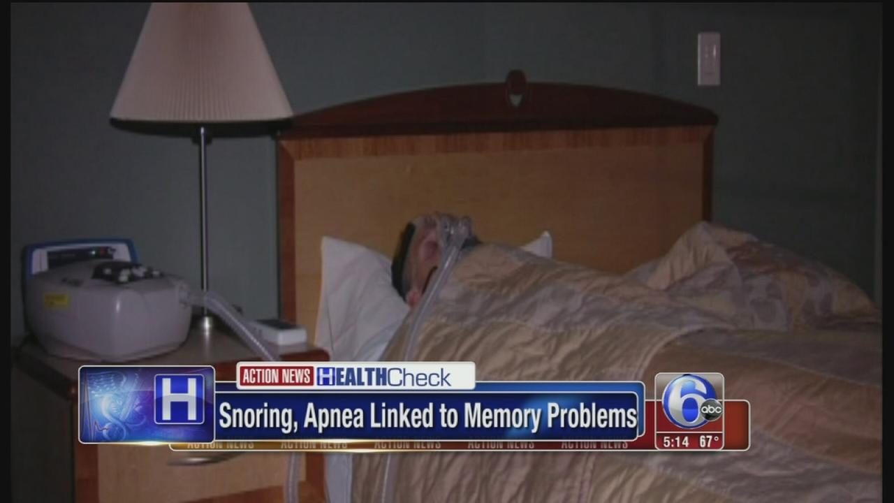 VIDEO: Snoring, apnea linked to memory loss