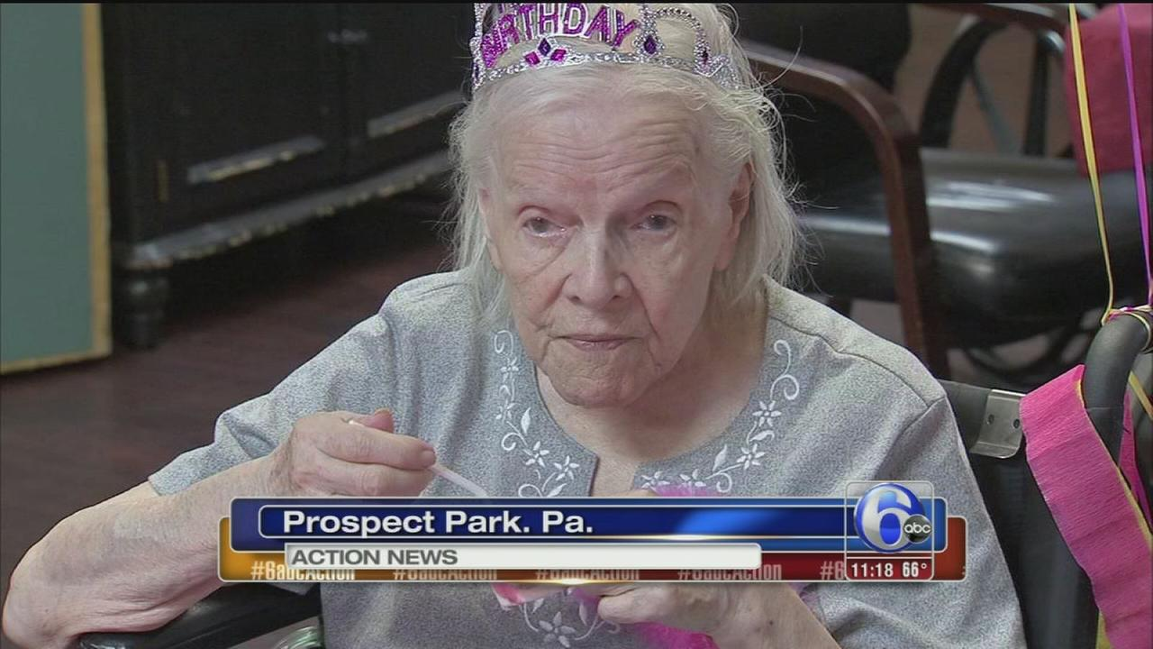 VIDEO: Woman celebrates 102nd birthday in Delco