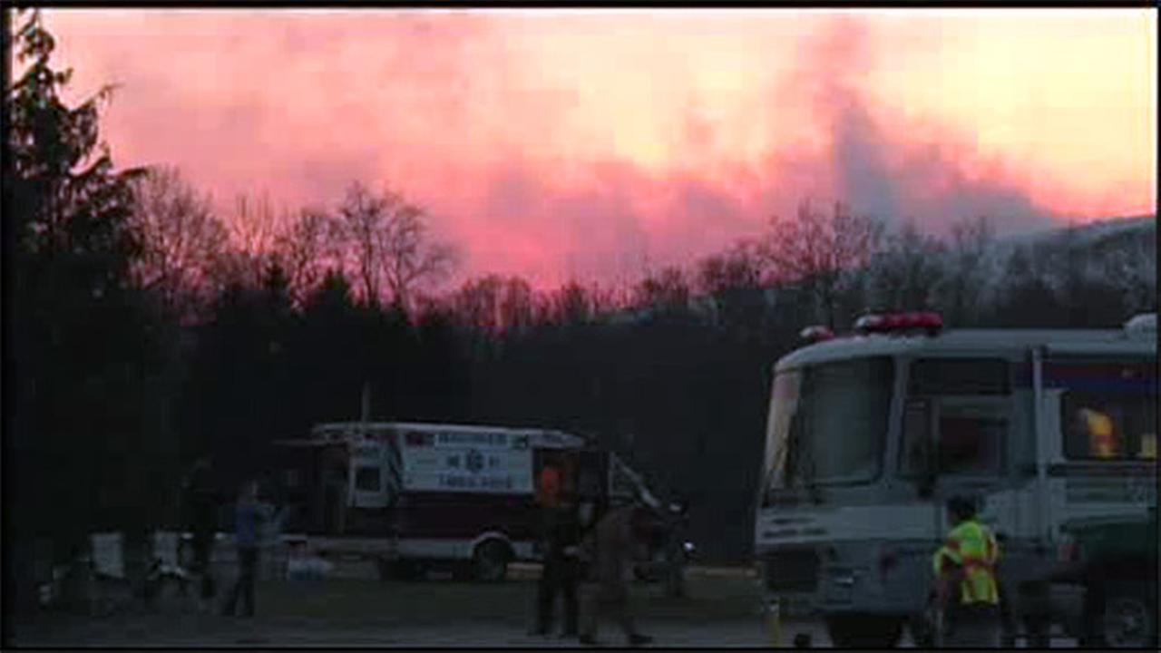 Wildfire scorches Blue Mountain in Lehigh, Carbon Counties