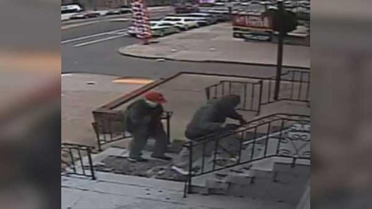 Philadelphia police are searching for two masked men who robbed a medical office at gunpoint in the citys Port Richmond section.