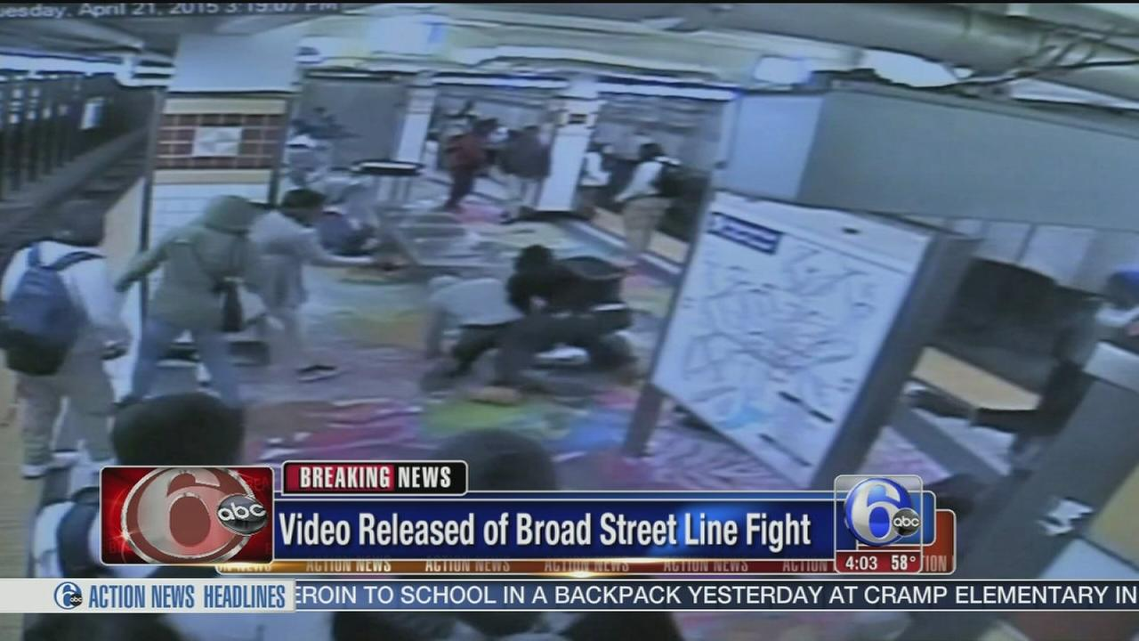 VIDEO: Surveillance of Broad Street Line fight