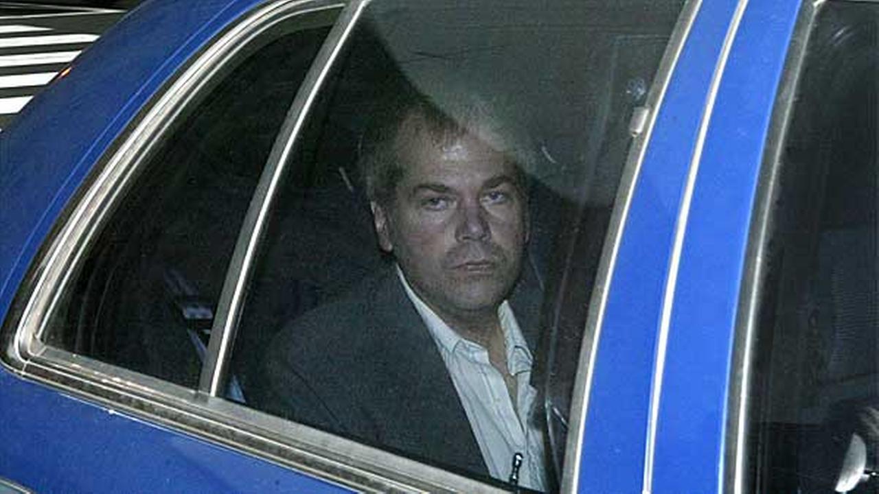 FILE - In this Nov. 18, 2003 file photo, John Hinckley Jr. arrives at U.S. District Court in Washington.
