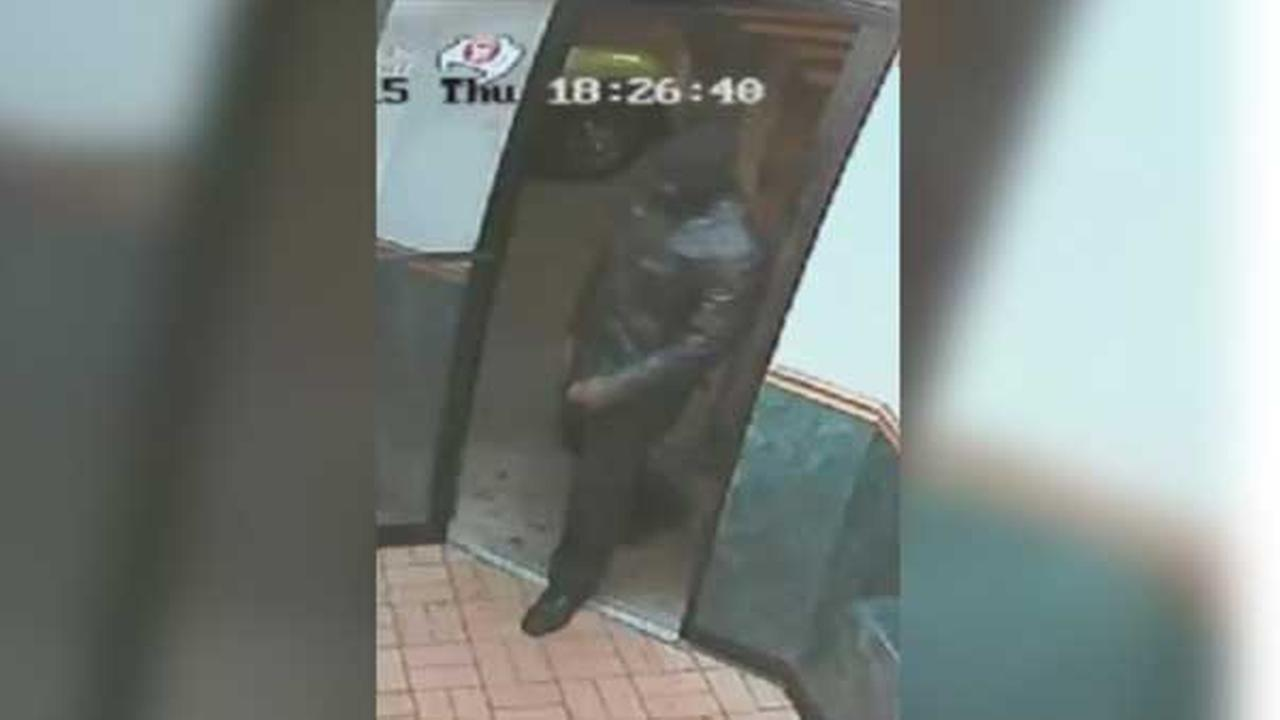 Philadelphia police are looking for a suspect who robbed a man at gunpoint inside a restaurant in the citys Hunting Park section.