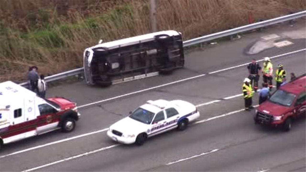 Lanes reopen after crash on I-95 NB in Tinicum Twp.