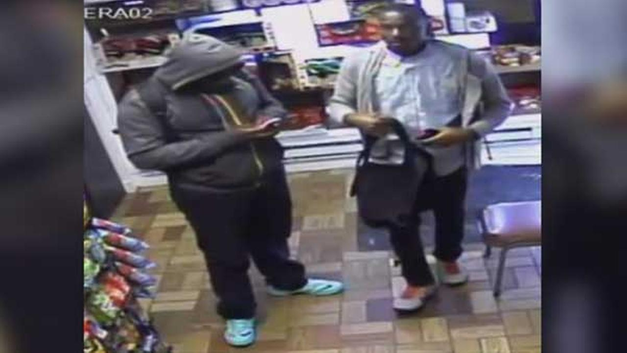 Police are searching for two suspects who robbed a market in North Philadelphia yesterday afternoon.