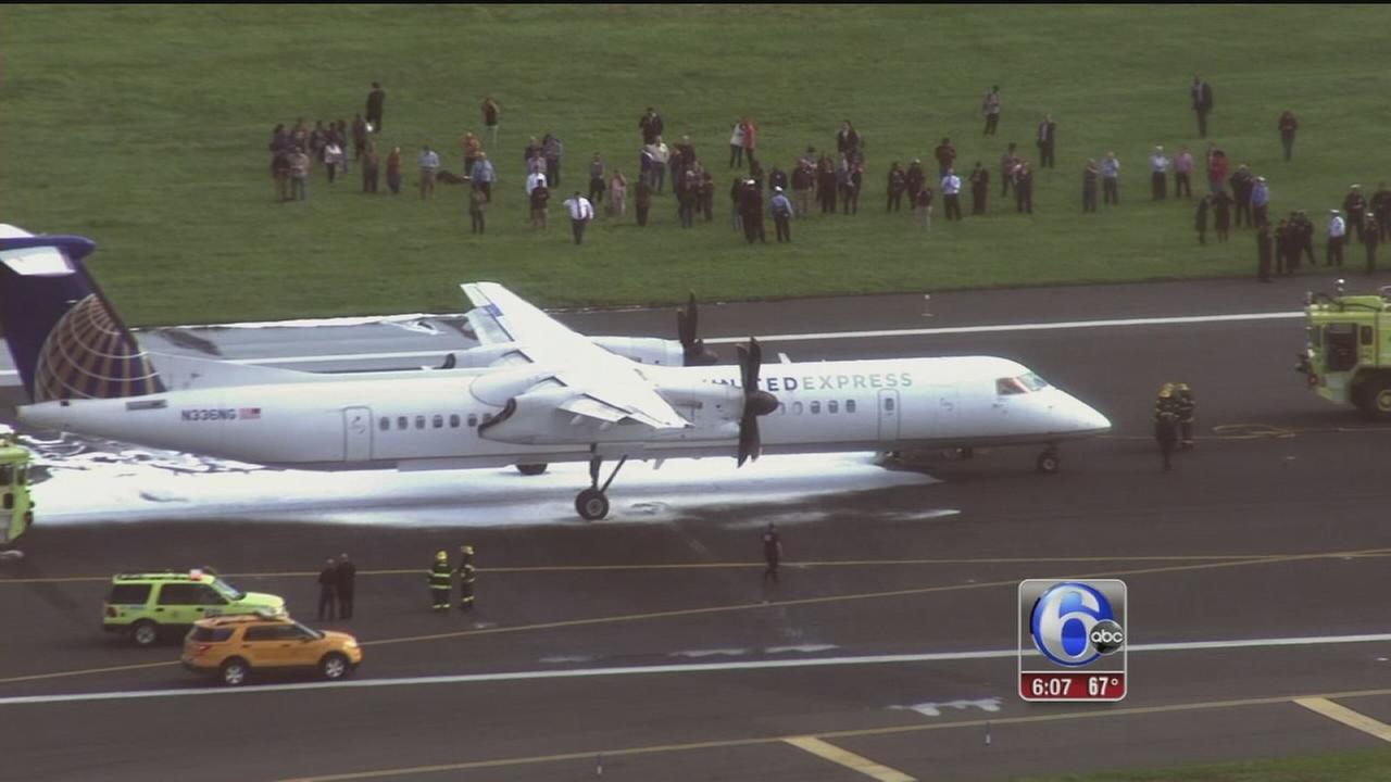 VIDEO: Emergency landing at Philadelphia Airport
