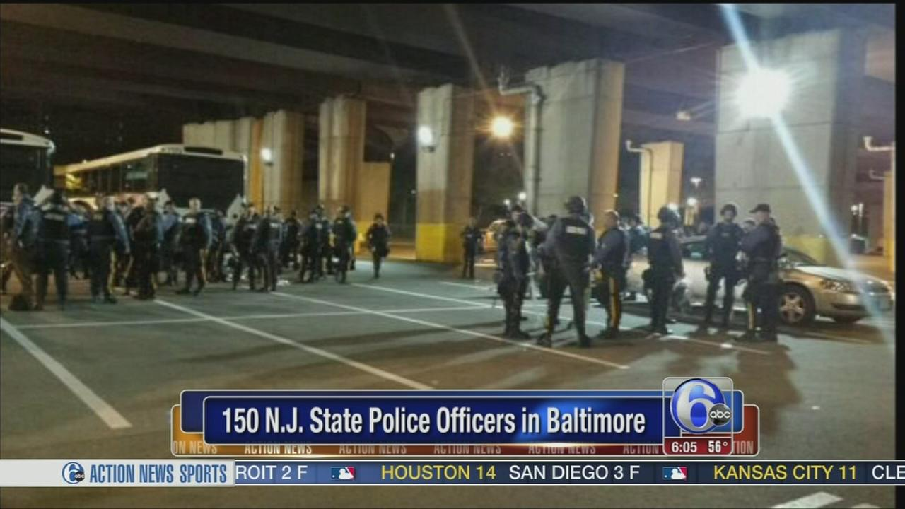 VIDEO: NJ state troopers in Baltimore