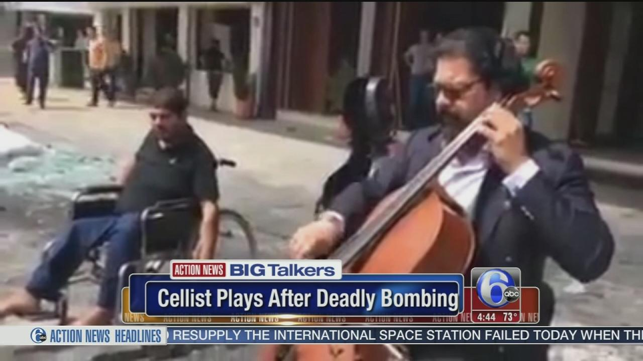 VIDEO: Cellist plays after deadly bombing