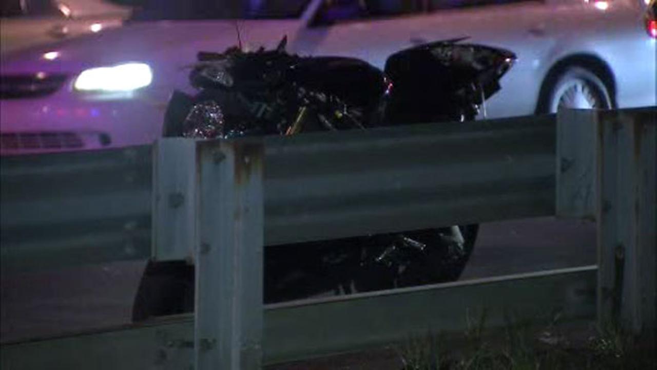 Biker injured in crash with car