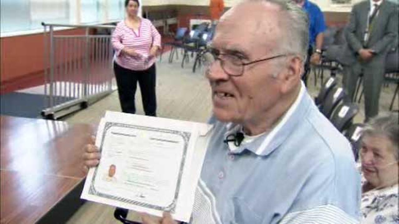 A Vietnam veteran from Berks County officially became a United States Citizen today after a long journey.