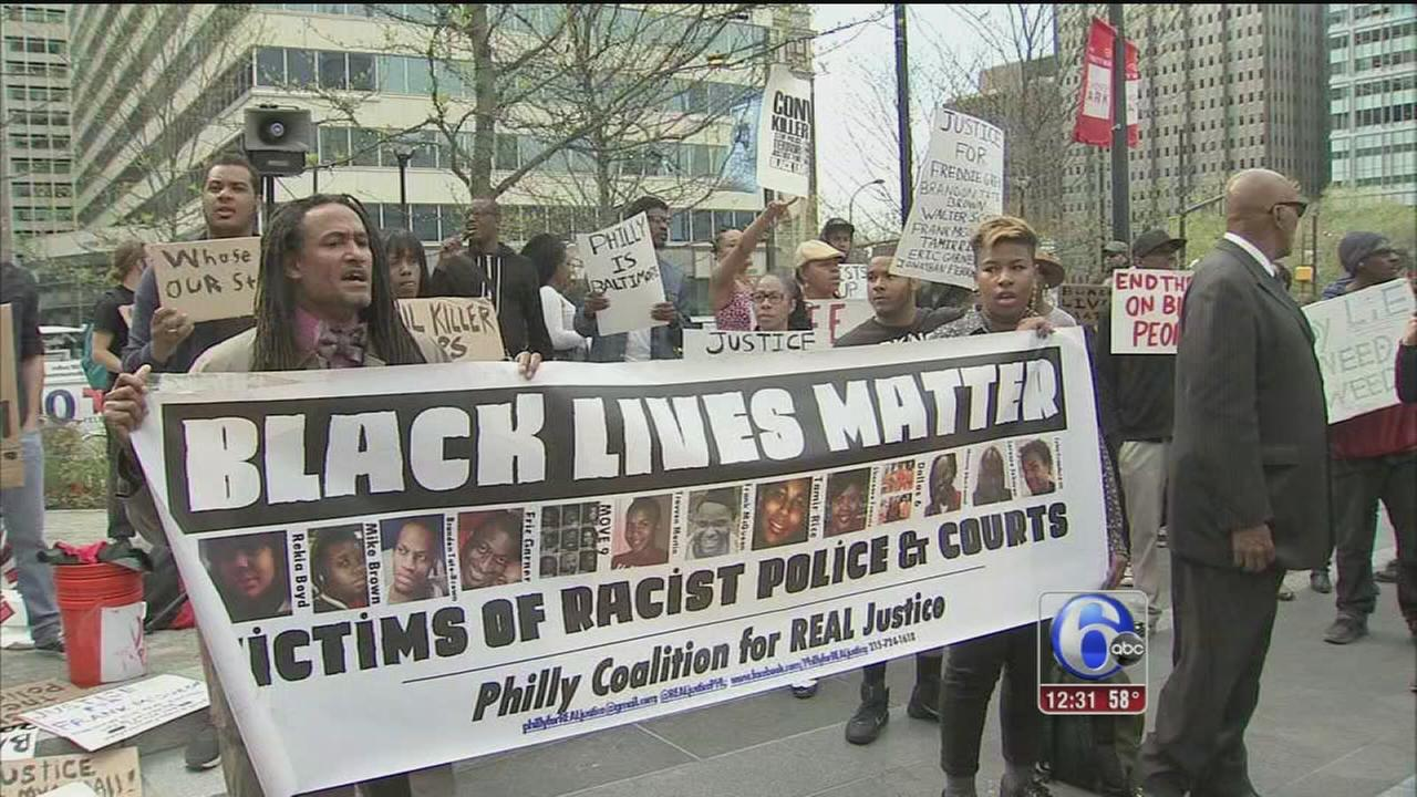 VIDEO: Philly is Baltimore protesters rally for hours