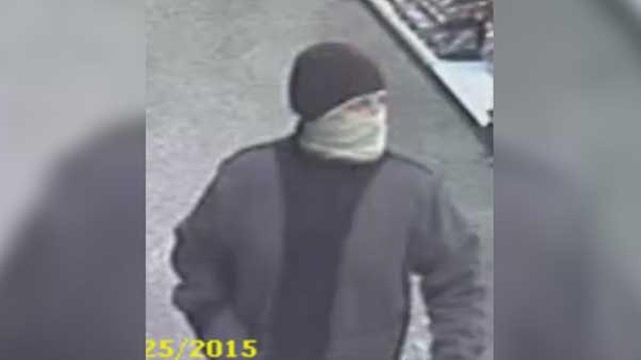 Police are looking for a masked man who robbed a Wawa store in Northeast Philadelphia.