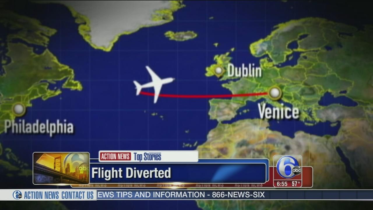 For 2nd time, Philly-bound flight diverted