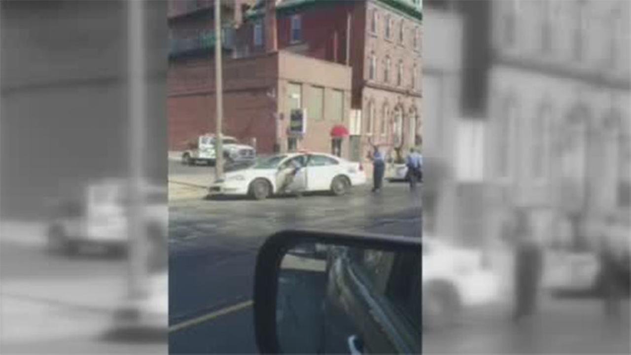 Police officer injured in Spring Garden crash