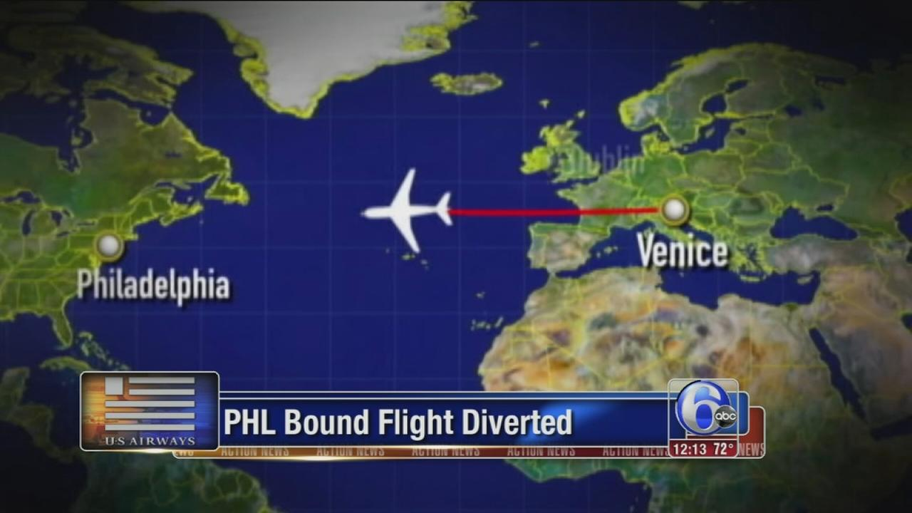 VIDEO: For 2nd time, Philly-bound flight diverted