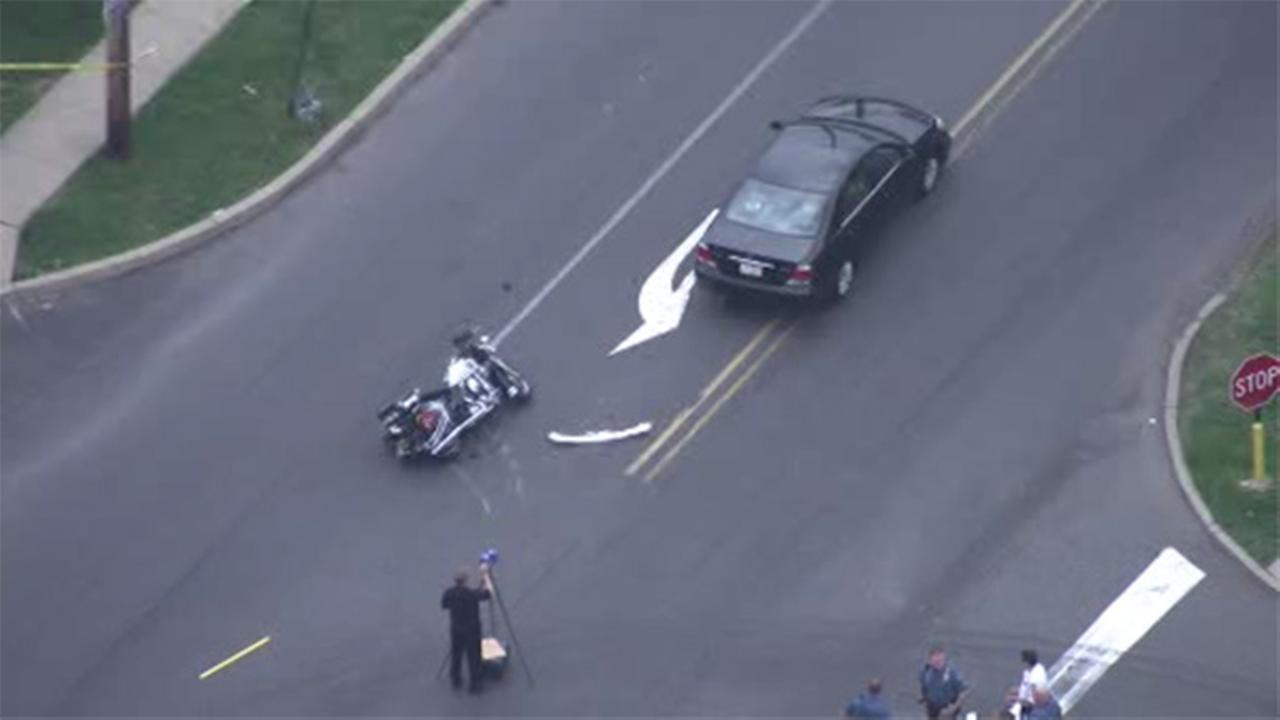 Bensalem cop injured in motorcycle crash