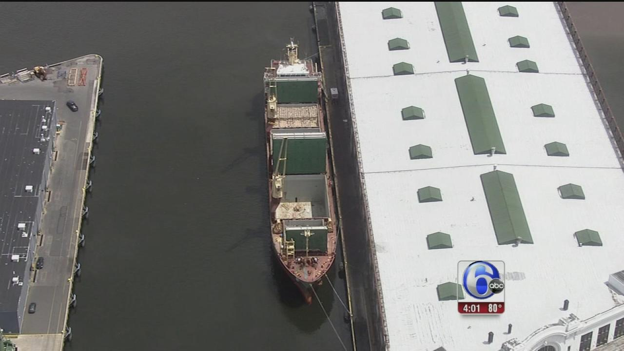 VIDEO: Body found on cargo ship