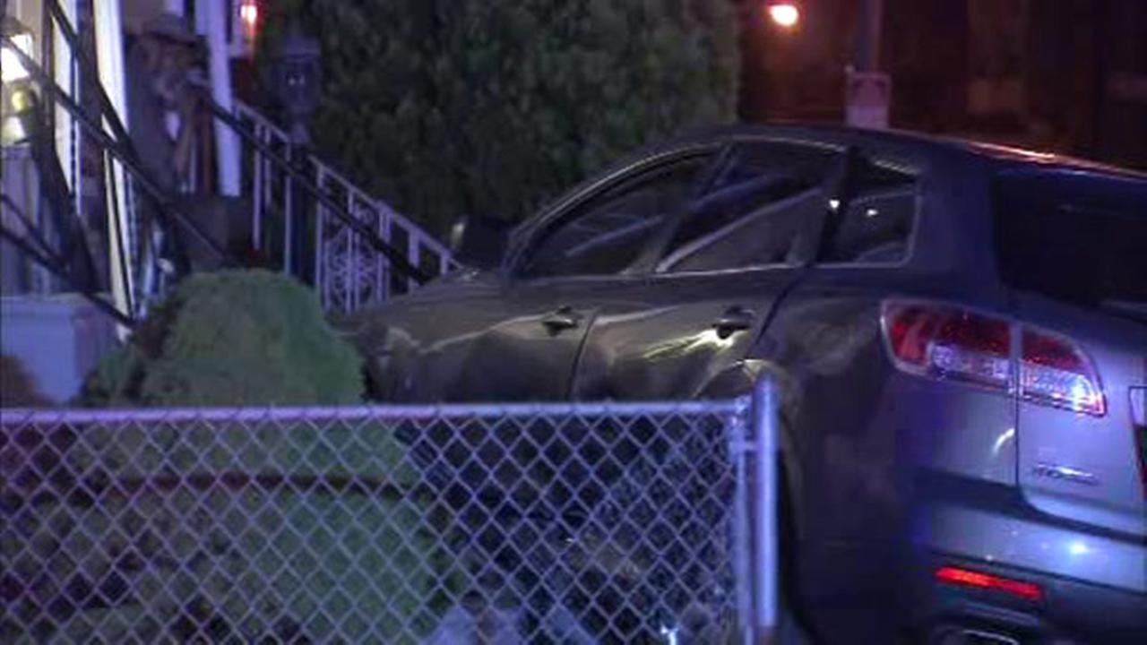 Collision sends SUV into West Philadelphia front yard