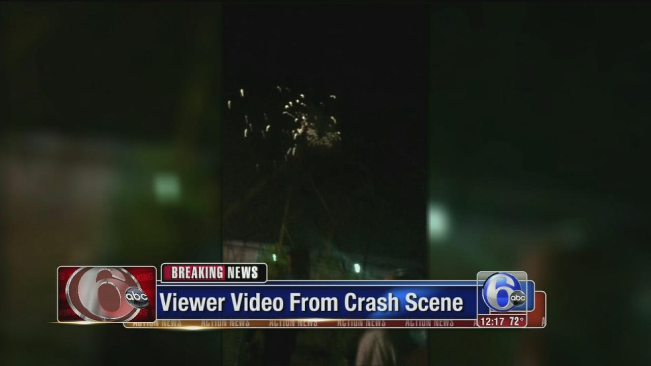 VIDEO: Viewer video from derailment scene