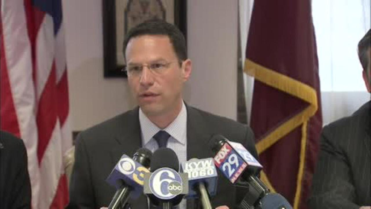 Josh Shapiro, Chairman of the Montgomery County Commission, speaks during a press conference on Wednesday, May 21, 2014.