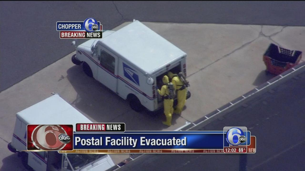 VIDEO: Possible hazmat situation at NJ postal facility
