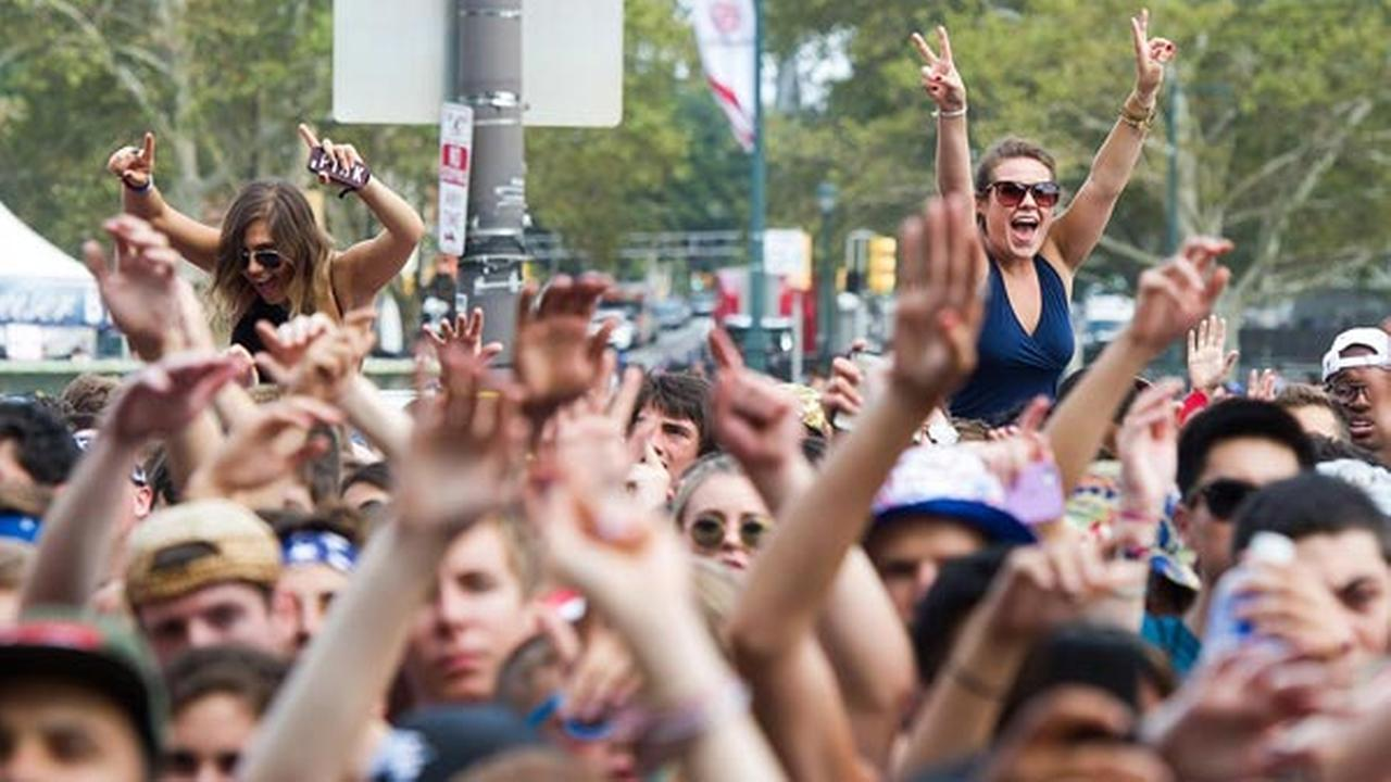 Fans attend day one of the Budweiser Made in America Festival on Saturday, August 30, 2014 in Philadelphia.
