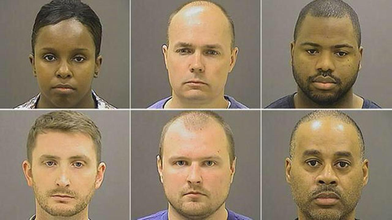 Six Baltimore police officers were charged in connection with the death of Freddie Gray.