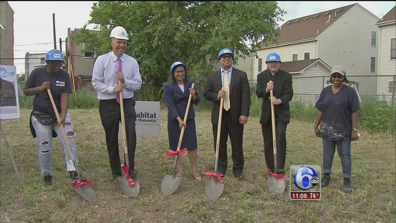 VIDEO: Habitat for Humanity building homes for 5 North Philadelphia families