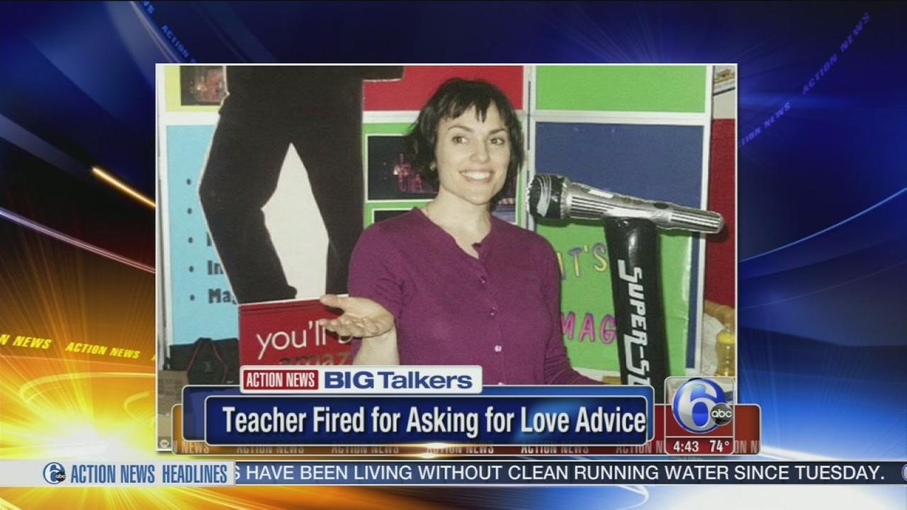 teacher fired for asking for dating advice