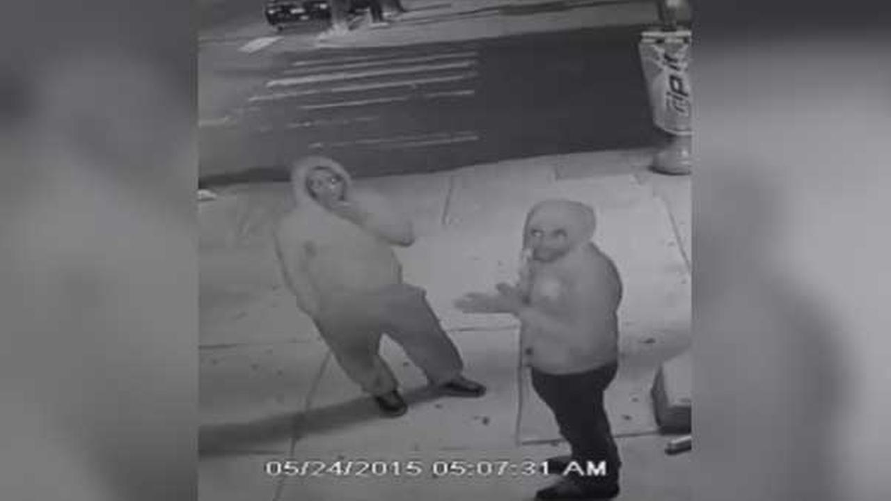 Police are looking for two armed suspects who attacked and robbed a man in the Parkside neighborhood of West Philadelphia.