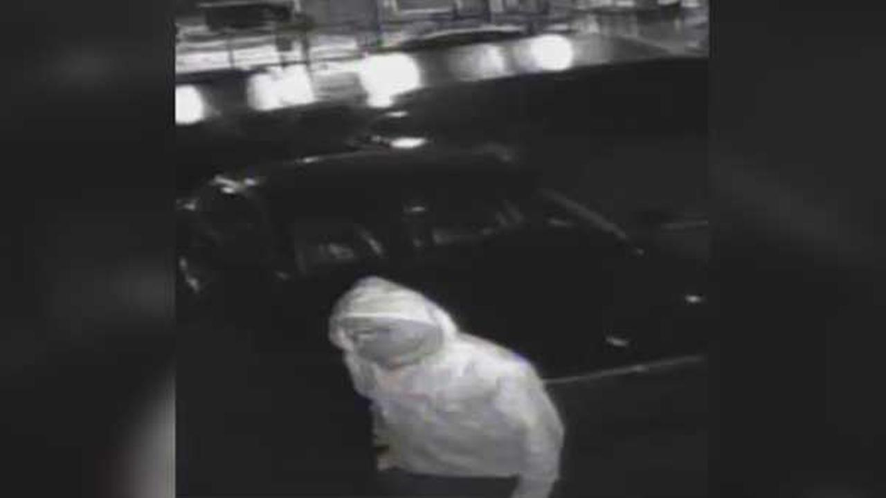 Police are searching for a burglar who brokg into a used car lot and drove off with a vehicle in North Philadelphia.