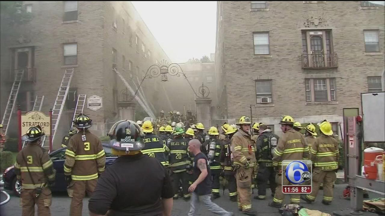 VIDEO: 80 displaced in Lansdowne apartment building fire