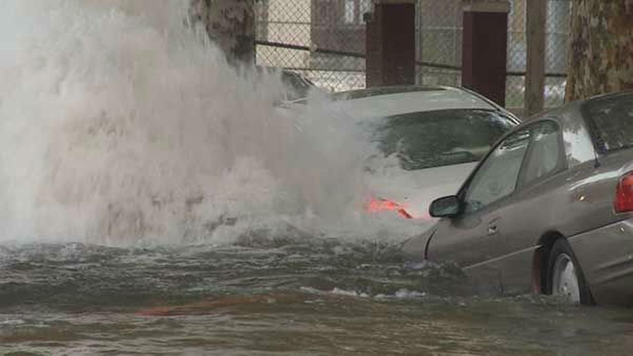 PHOTOS: Massive water main break in West Phila.