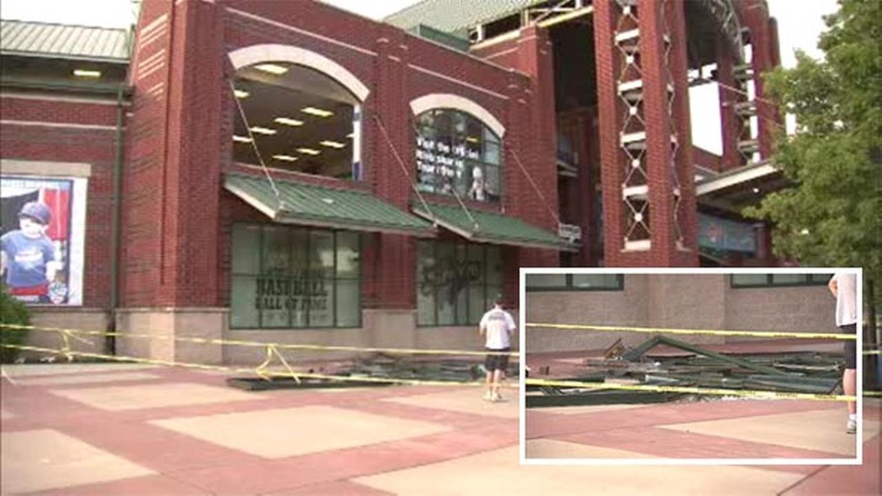 Window crashes to ground at Campbell's Field
